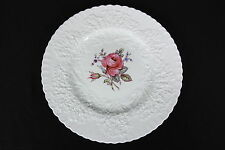 "Spode England Bone China Bridal Rose Savoy Shape 10 1/2"" Dinner Plate Excellent"