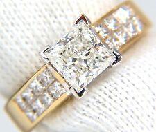 █$15000 GIA 2.03CT PRINCESS CUT DIAMONDS RING & CHANNEL SIDE DIAMONDS BRILLIANT