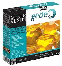 PEBEO GEDEO TOPAZ YELLOW COLOUR RESIN & HARDENER 150ml KIT TRANSPARENT JEWELLERY