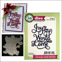 Joy to the World metal die set Impression Obsession cutting dies DIE462-R words