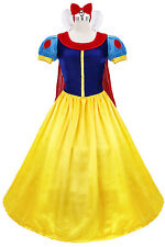 Snow White Costume Adult Fairytale Princess Halloween Fancy Dress Cosplay Gown