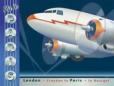 "Aviation, ""Fly to Paris"", digital print, 18""h x 24""w image size"