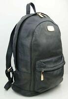 Michael Kors Unisex Uni Rucksack Backpack Tasche Leder schwarz goldfarben