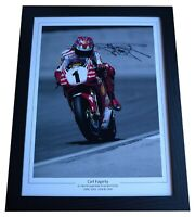 Carl Fogarty Signed Autograph 16x12 framed photo display Superbikes AFTAL COA