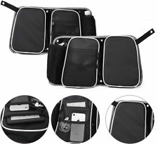 MTP Seats Rear Passenger Door Bag w/ Knee Pad Polaris RZR XP 4 1000 Black/WHITE