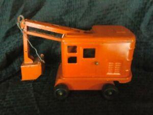 Vintage Marx Lumar Steam Shovel - 1940's Pressed Steel Toy Truck