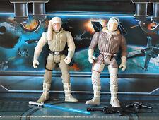 Star Wars Figura 1995 Potf Colección han Solo & Luke Skywalker Hoth Gear * Lote