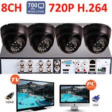 8CH H.264 960H HDMI DVR 700TVL 1/4CMOS Interior Infrarrojo 3.6mm CCTV Cámara Kit