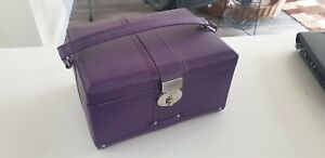 Purple leather Dulwich designs large high quality  jewellery box