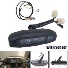 LCD Digital 12000rpm Motorcycle Speedometer Odometer Tachometer Meter w/ Sensor