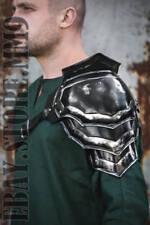 Blaсkened Steel Armor Pauldron Gladiator/Shoulder Metal Armor/LARP Fantasy Armor