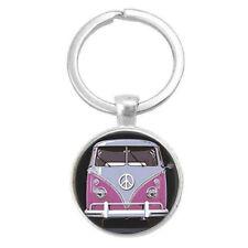 VW Kombi Cabochon Glass Keyring