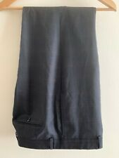 Aquascutum Mens Trousers Dark Grey Wide Check 36R 31L
