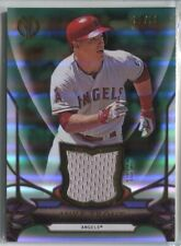 MIKE TROUT 2016 TOPPS TRIBUTE BASEBALL GREEN CERTIFIED JERSEY RELIC /99 ANGELS