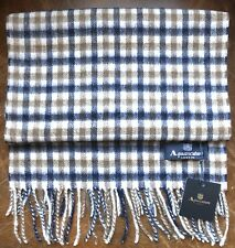 AQUASCUTUM SCARF 100% LAMBSWOOL BRAND NEW WITH TAGS 100% GENUINE
