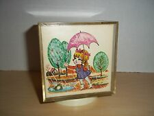 """Vintage Laurel Lucite Music Box Rotating  Plays Theme From """"Love Story"""""""