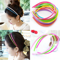Cute Candy Color Headband Solid Plastic Hairband Accessories Hair Hoop Band 2PCS