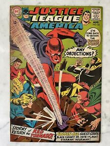 JUSTICE LEAGUE OF AMERICA #64-1ST SA APPEARANCE RED TORNADO-SILVER AGE-VF 8.0