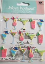 JOLEE'S BOUTIQUE DRINK REPEATS Cocktails Craft Scrapbook Sticker Embellishment