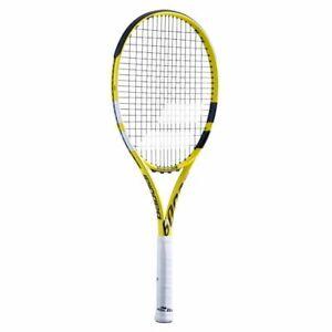"BABOLAT Tennis Racquet Boost Aero, STRUNG, Yellow, Grip 2 (4-1/4""), Latest Model"