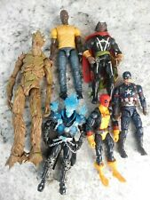 Marvel Legends Lot Of 6 - Groot, Captain America, Ghost Rider, Luke Cage & More!
