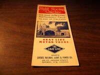 1949 THE GRAY LINE SIGHT SEEING QUEBEC BROCHURE