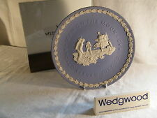 """The Wedgwood Blue Jasper Plate of the """" Apollo Landing on The Moon 1969, Superb"""