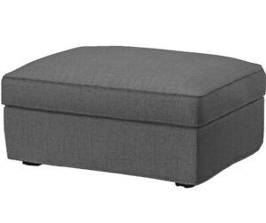 Ikea Kivik Fodera Poggiapiedi Hillared Grey 504.650.06