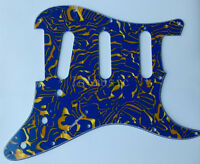 3 Ply 11 Hole Blue Shell SSS Pickguard for Fender Strat Electric Guitar Parts