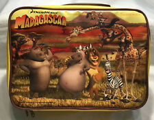 Madagascar Insulated Lunch Box Bag Carry Case - Tupperware - Dreamworks Kids Kit