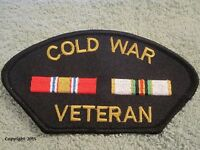 "COLD WAR VETERAN Victory Medal,  Double Ribbon Patch ""COLD WAR VETERAN"" Award"