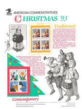 #426 29c Christmas 1993 #2789/2791-2794   USPS Commemorative Stamp Panel