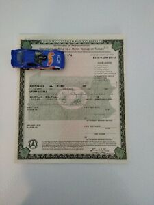 1966 Ford Mustang K-Code Fastback Paperwork Document