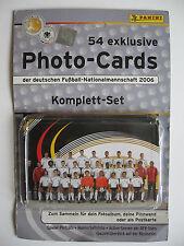 """PANINI CALCIATORI """"Photo-Cards"""" Calcio-squadra nazionale 2006"""", completamente"""