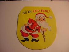 Vintage CHRISTMAS Card: SANTA and His Dentures/False Teeth-Unused
