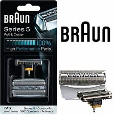 Braun 51s 8000 Series 5 ContourPro Replacement Foil and Cutter Shaver Cassette