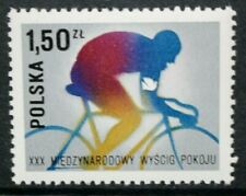 POLAND 1977 30th International Peace Cycle Race: Cyclist. Set of 1. MNH. SG2490.