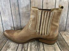 Men's Vintage GBX Cowboy Leather Ankle Boots Size 9.5 D