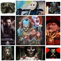 """5D Full Drill Diamond Painting """"Horror IT film characters"""" Mosaic Special Gift"""
