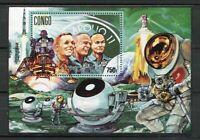 38109) Congo Rep.1991 MNH Crew Of Apollo 11 - Space S/S