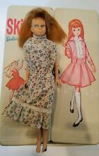 1963 Barbie Skipper Doll 9in. Damaged foot w/ 1964 Skipper carrying case Mattel