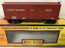 ✅MTH PREMIER UNION PACIFIC 19th CENTURY WOOD SIDE BOX CAR! FOR O GAUGE TRAIN SET