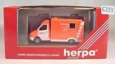 Herpa 1/87 044387 Mercedes Benz Sprinter RTW Feuerwehr Wuppertal  OVP #5339
