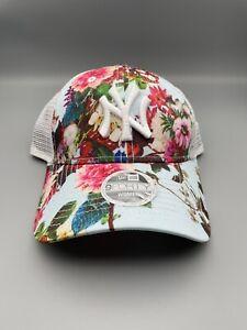 MLB New York Yankees New Era Women's Floral 9Forty Adjustable Hat Cap Read*