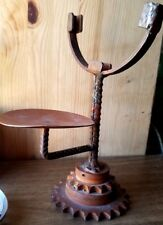 GEAR/COG/SPROCKET STEAMPUNK SHAVING MIRROR STAND. BROWNING INDUSTRIAL PARTS