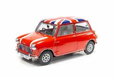 Tiny Hong Kong 1/12 Mini Cooper Red with Union Jack Roof & White Bonnet Stripes