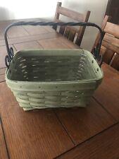 Longaberger Artisan Spring Sage Basket 2014 Protector