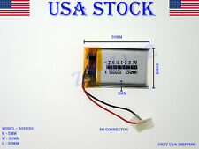 3.7V 250mAh 502030 Lithium Polymer LiPo Rechargeable Battery (USA STOCK)