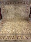 8X11 Ft Very Rare Antique Handmade Mahi Design tribal high quality Wool Kashmiri