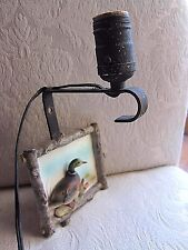 VTG Hunting Lodge SONSCO Wall Lamp Sconce Light Fixture~Porcelain Duck